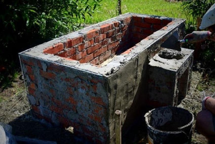 Самодельная ванна: штукатурка