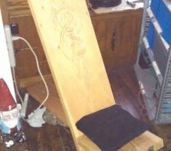 Вариант оформления стула