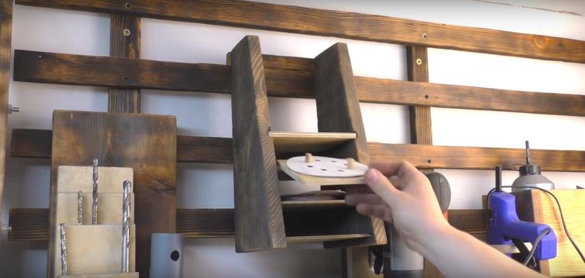 Хранение шлифовальных листов на самоделке