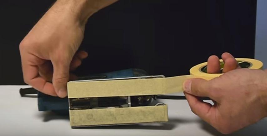 Малярная лента на подошве электролобзика