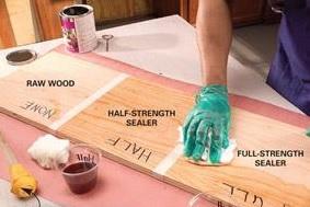 равномерно проморить древесину