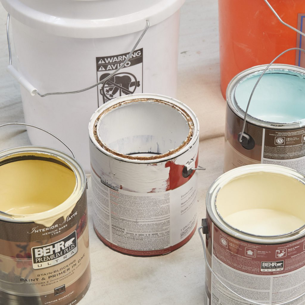 как использовать остатки краски
