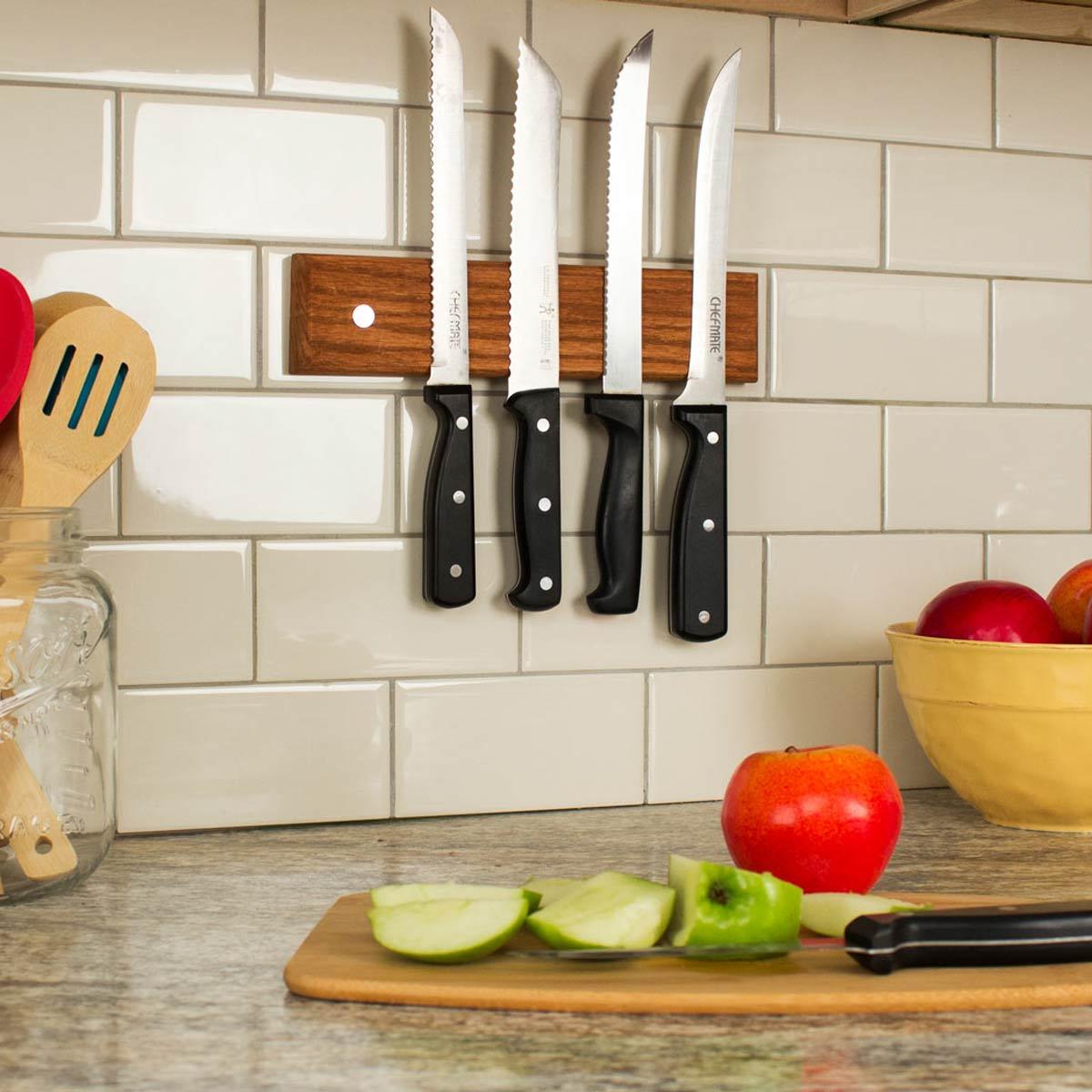Магнитный держатель для ножей своими руками  просто быстро и красиво Пошаговая инструкция с фото