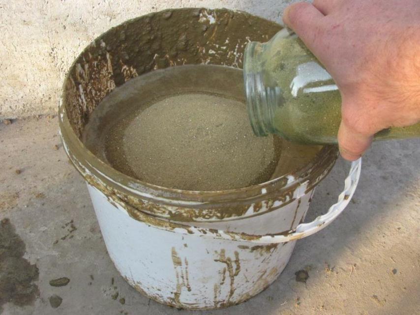 Кладочная смесь - Засыпание песка