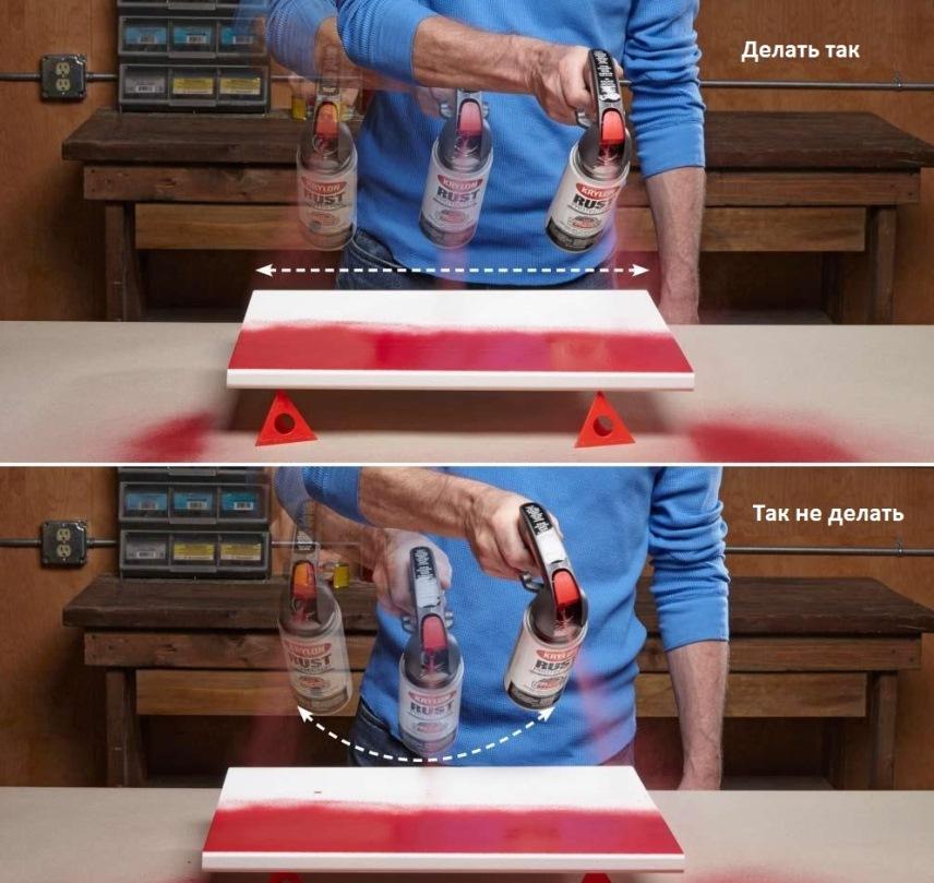 аэрозольные краски: как красить