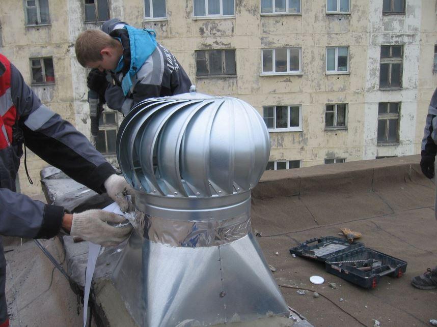 Монтаж турбодефлектора