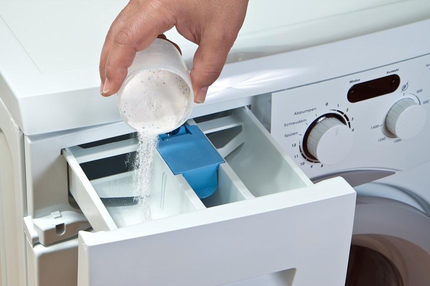 Стиральная машина - Емкость для порошка