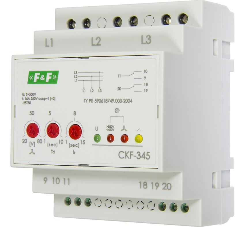3-фазное реле контроля фаз