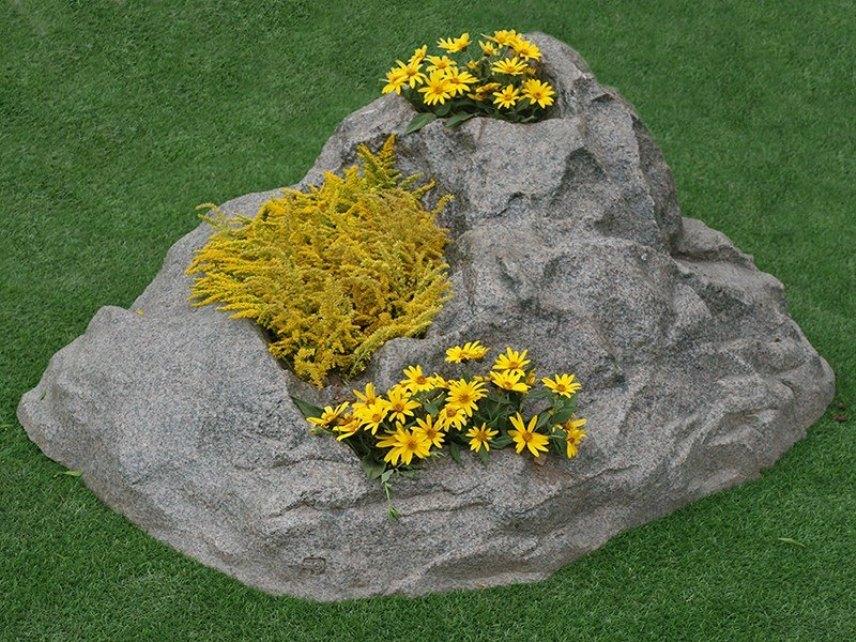 Декоративный камень-кашпо