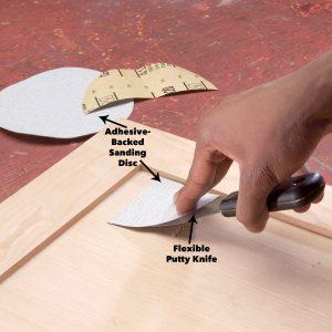 шкурить вручную
