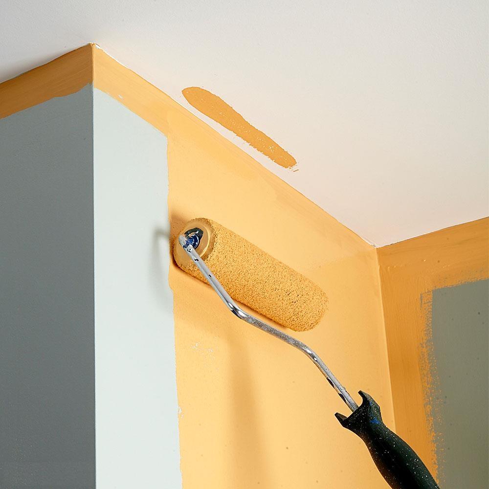 Меньше ошибок при покраске - стена