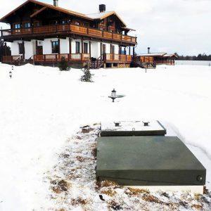 Как установить УОСВ Топас зимой
