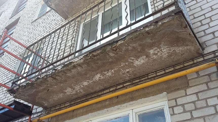 Балконная плита разрушается