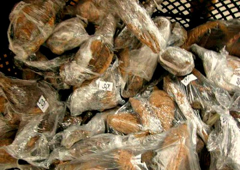 Хранение георгинов в пищевой пленке