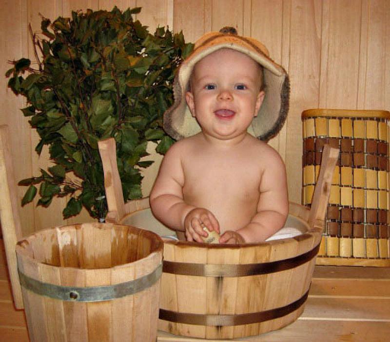 привыкаем к бане с детства