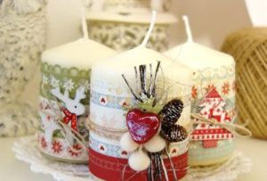 Праздничные декоративные свечи