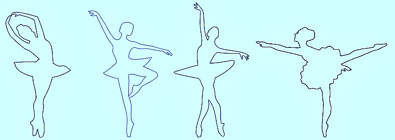 трафарет балерина