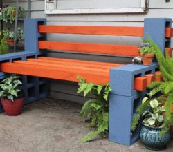 Стильная скамья для сада своими руками без инструментов