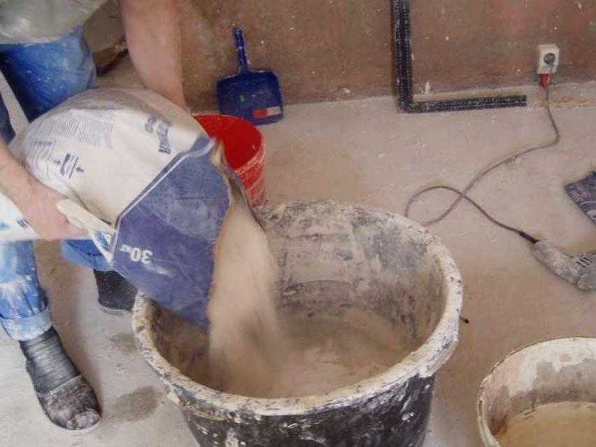 Оштукатуривание - приготовление раствора