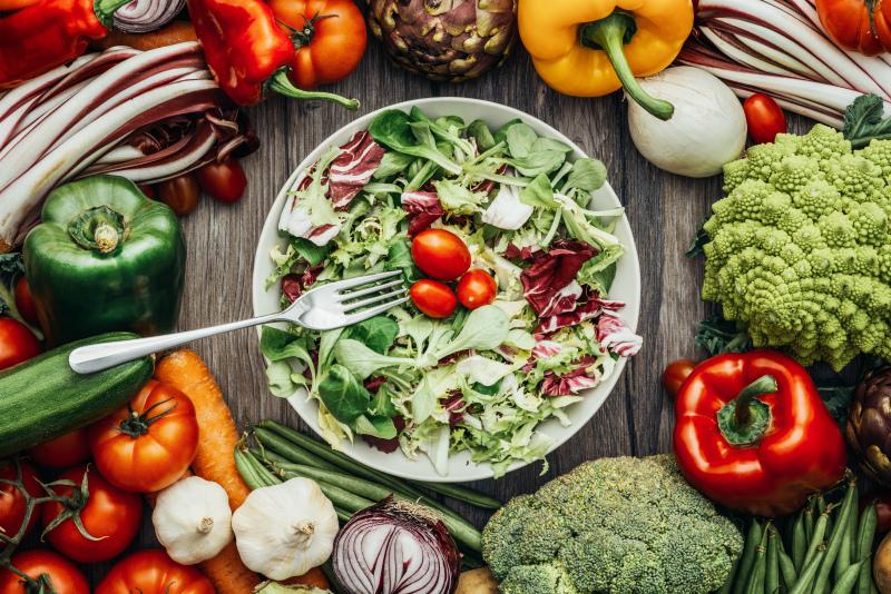 Овощное здоровое питание