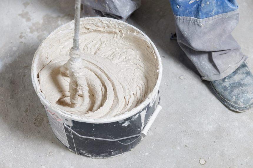 Полимерные шпаклевки - перемешивание