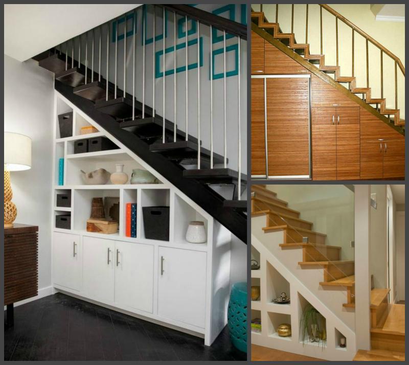 Шкаф под лестницей, идеи