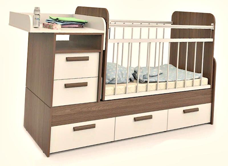 Трансформер- кровать, комод, пеленальный стол