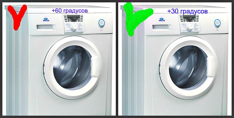 Стирайте белье бережно