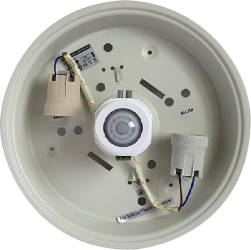 Устройство светильника с датчиком движения