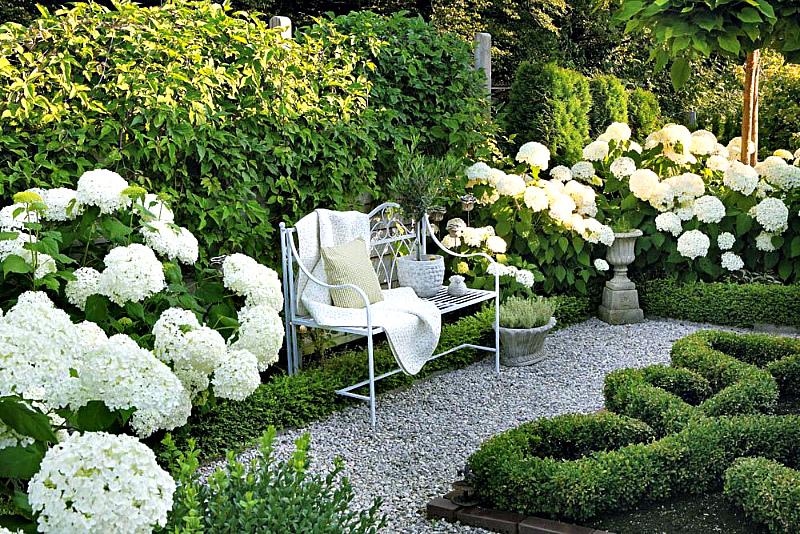 Романтический белый сад