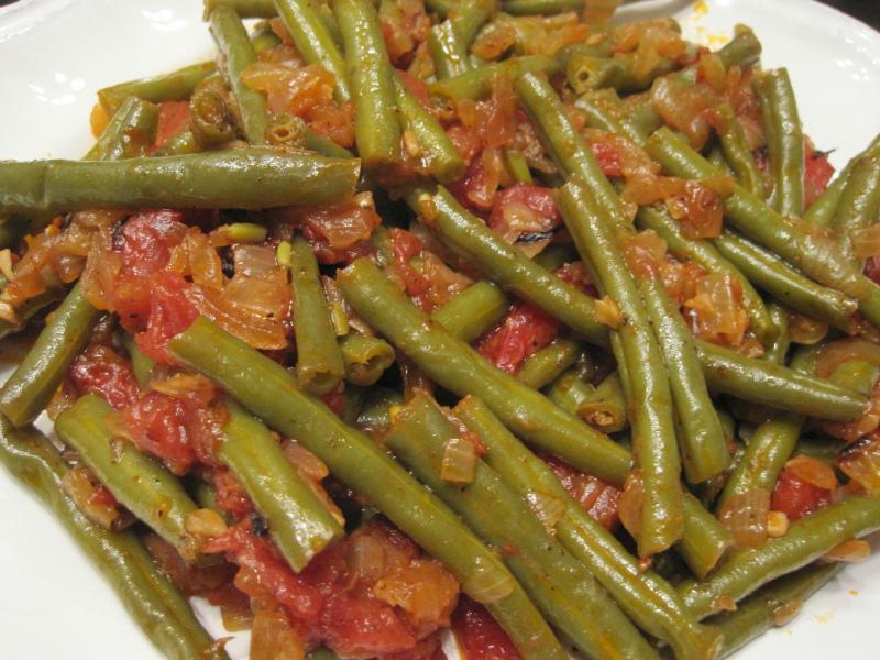 Вигна в грузинском блюде