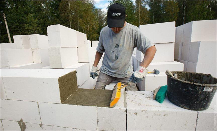 Ячеистый бетон на стройке
