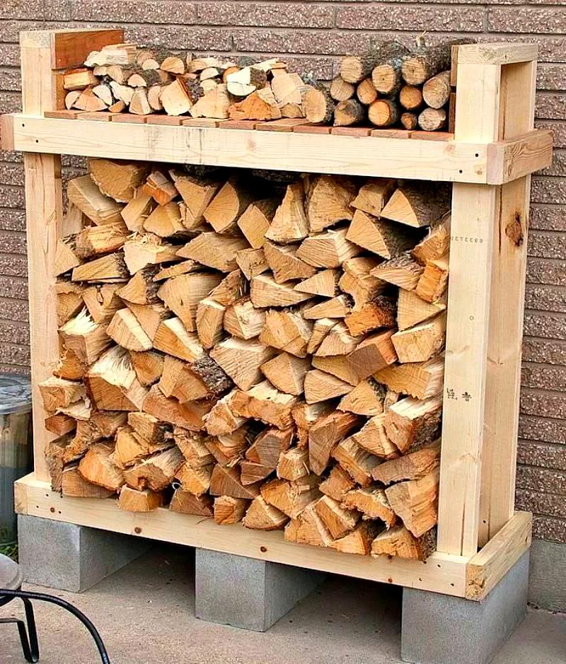 Карантин на даче - запас дров