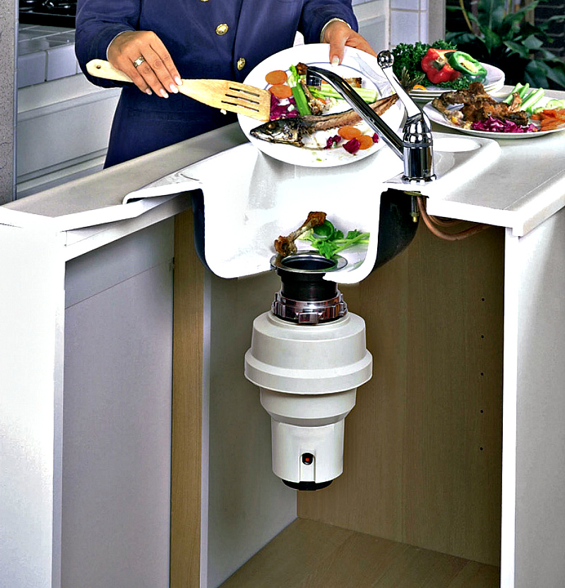 Диспоузер на кухню: никаких посторонних запахов и мусорных пакетов