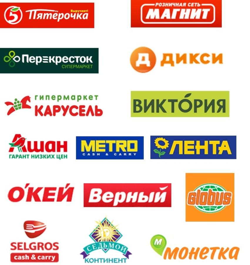 Основные продуктовые сети России