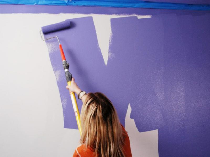 Покраска стен - ошибка нанесения краски