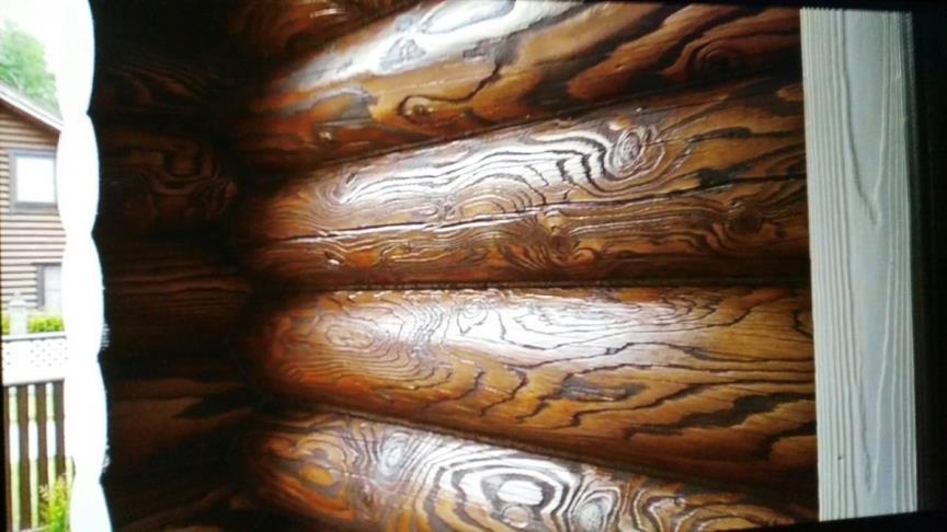 Шлифовка сруба - брашировка