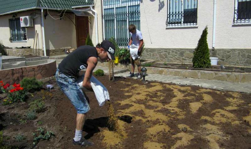 Подготовка площадки под газон