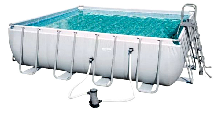 Большой бассейн для семьи