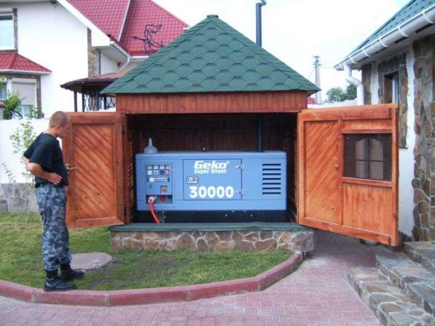 Частный дом - дизель-генератор