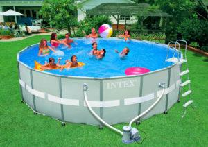 Каркасный бассейн для всей семьи