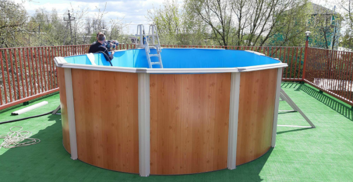 Секционный каркасный бассейн