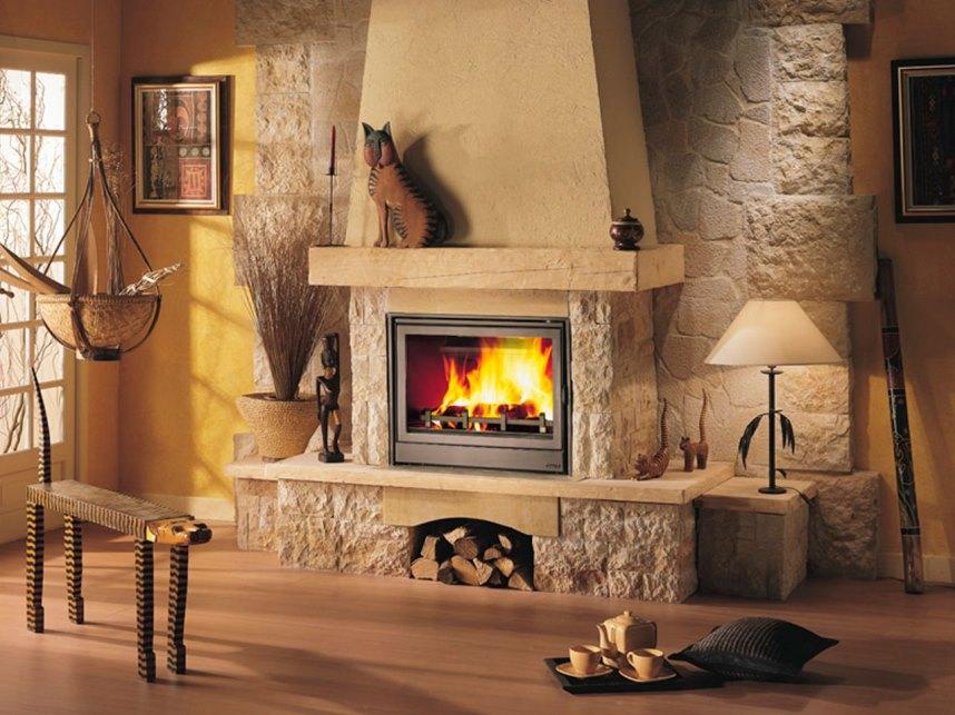 Камин, отопление