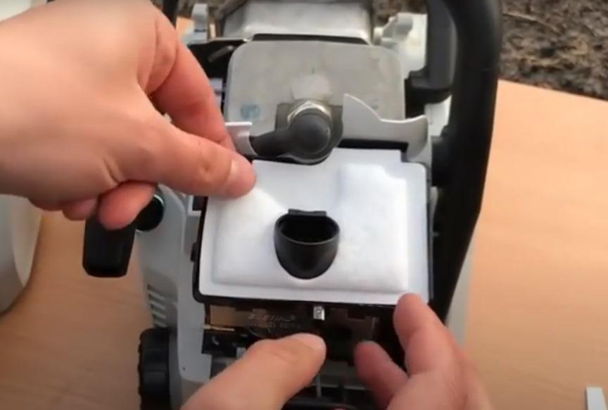Оригинальная бензопила, воздушный фильтр