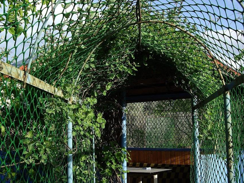 Стеклопластиковая сетка в саду