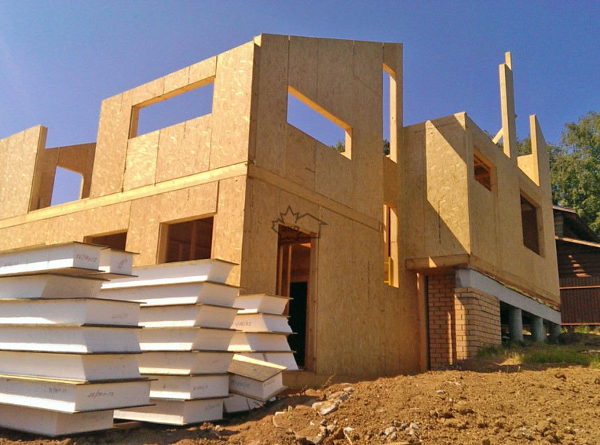 СИП панели, строительство дома