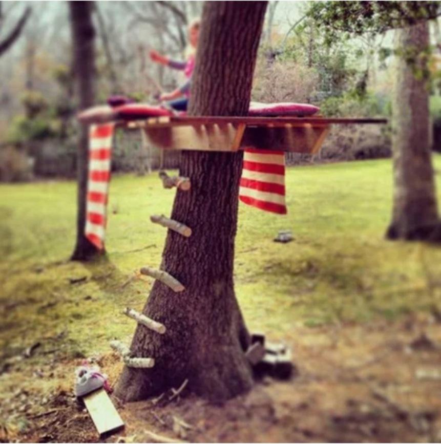 Идеи для дачи, домик на дереве