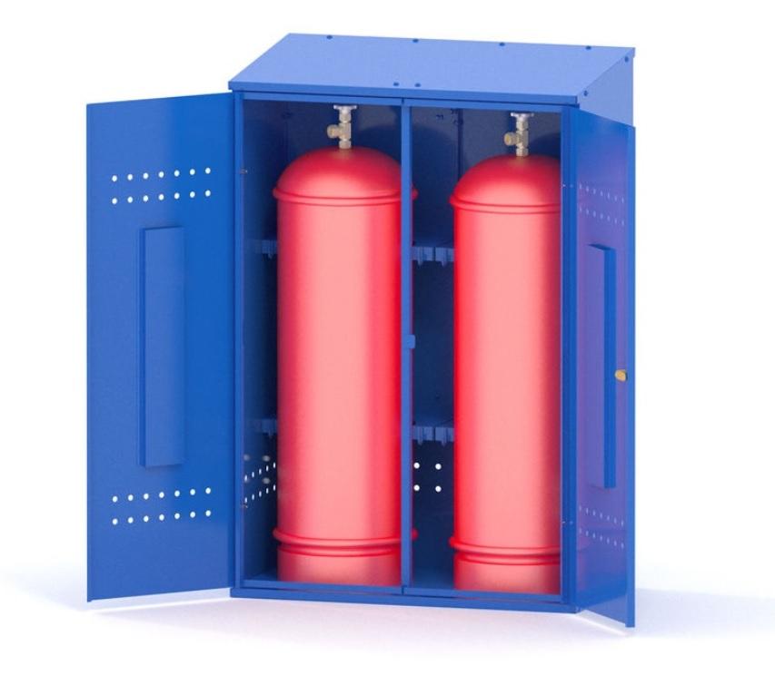 Шкаф с газовыми баллонами