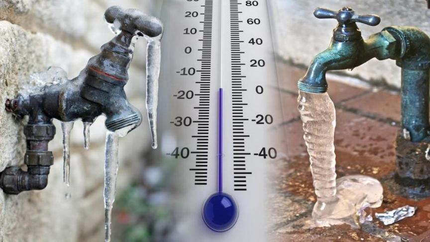 Вода замерзла в водопроводе