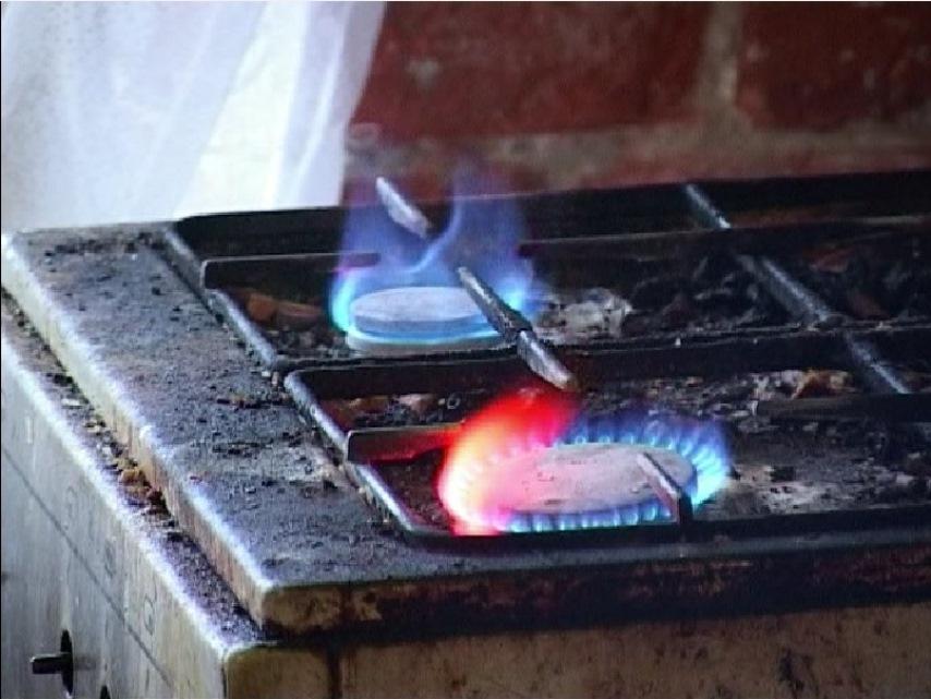 Несправная газовая плита
